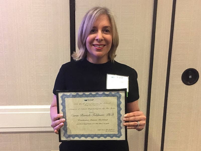 Dr Caren Baruch Feldman Awarded School Psychologist Of The Year