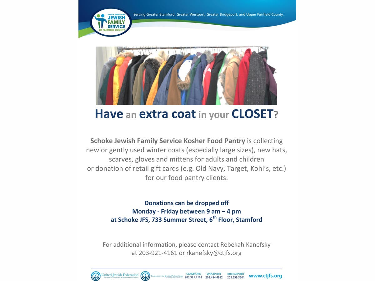 8a25fb05304a Schoke Jewish Family Service Launches Winter Outerwear Drive ...