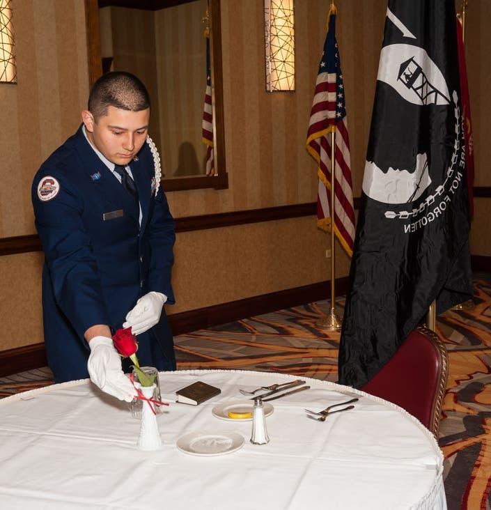 Video: Dedication of POW/MIA table at D218 Miltary Ball ...