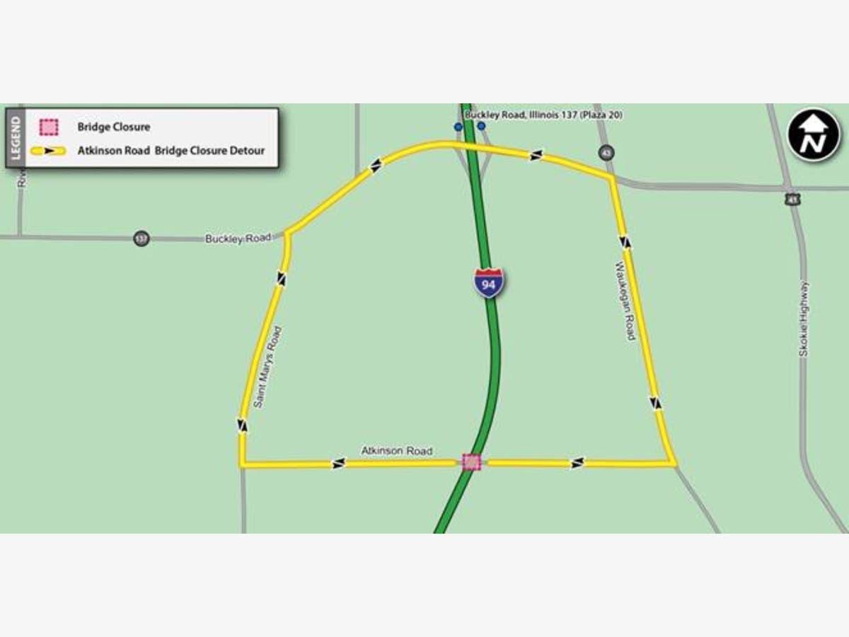 Atkinson Road Bridge Closure Begins Next Week | Libertyville