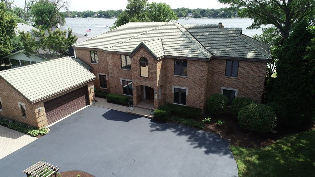 Mansion Has Pier, Master Bedroom With Exercise Room in Loft ...