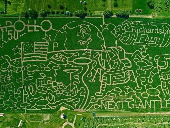 Massive Corn Maze Opens Sept  7, Releases Aerial Photo