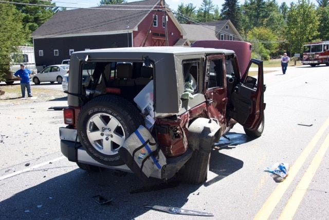 Three Injured in Multi-Vehicle Crash on Route 106 | Concord, NH Patch
