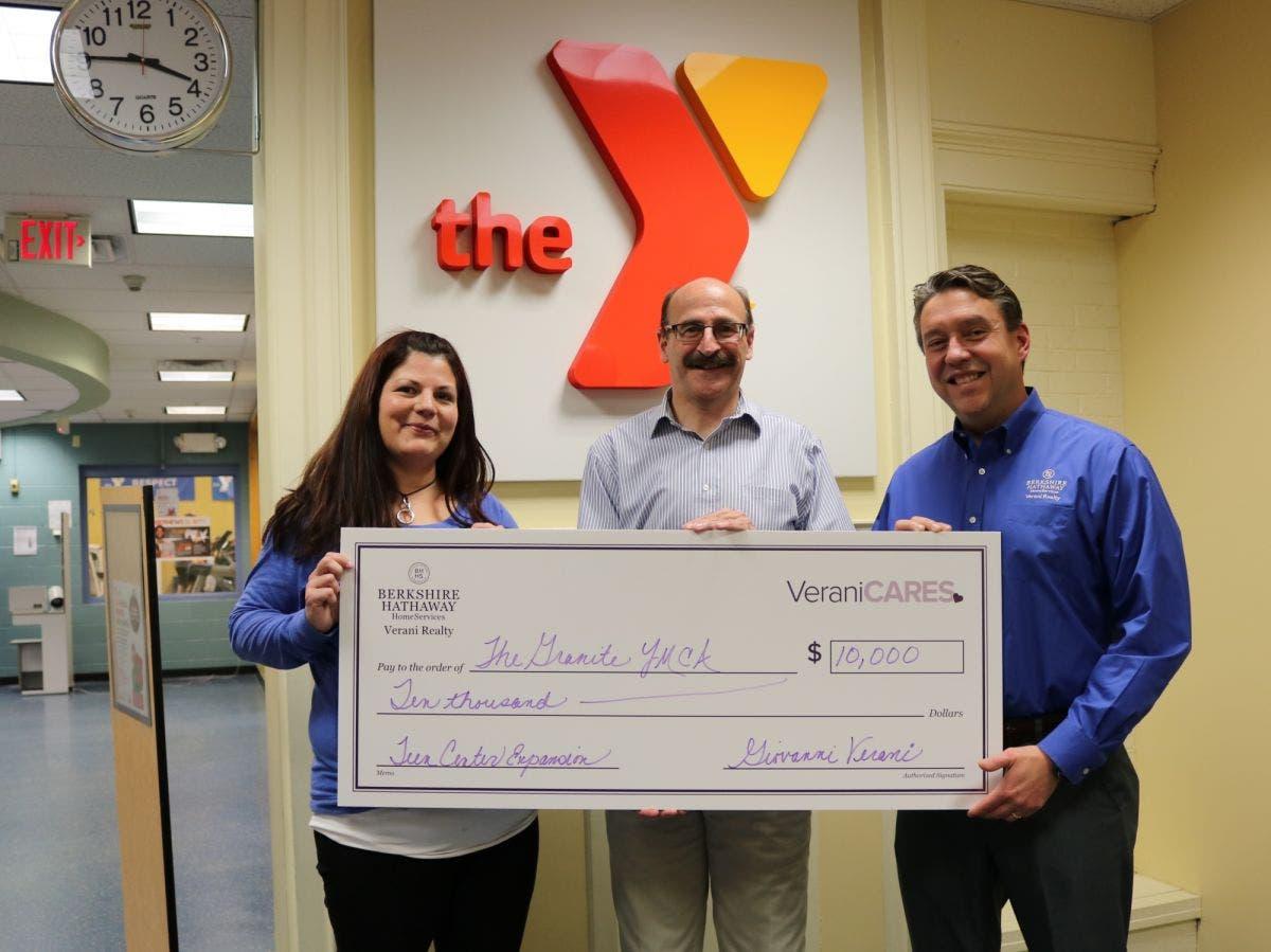 Berkshire Hathaway Verani Realty donates $10K to Granite