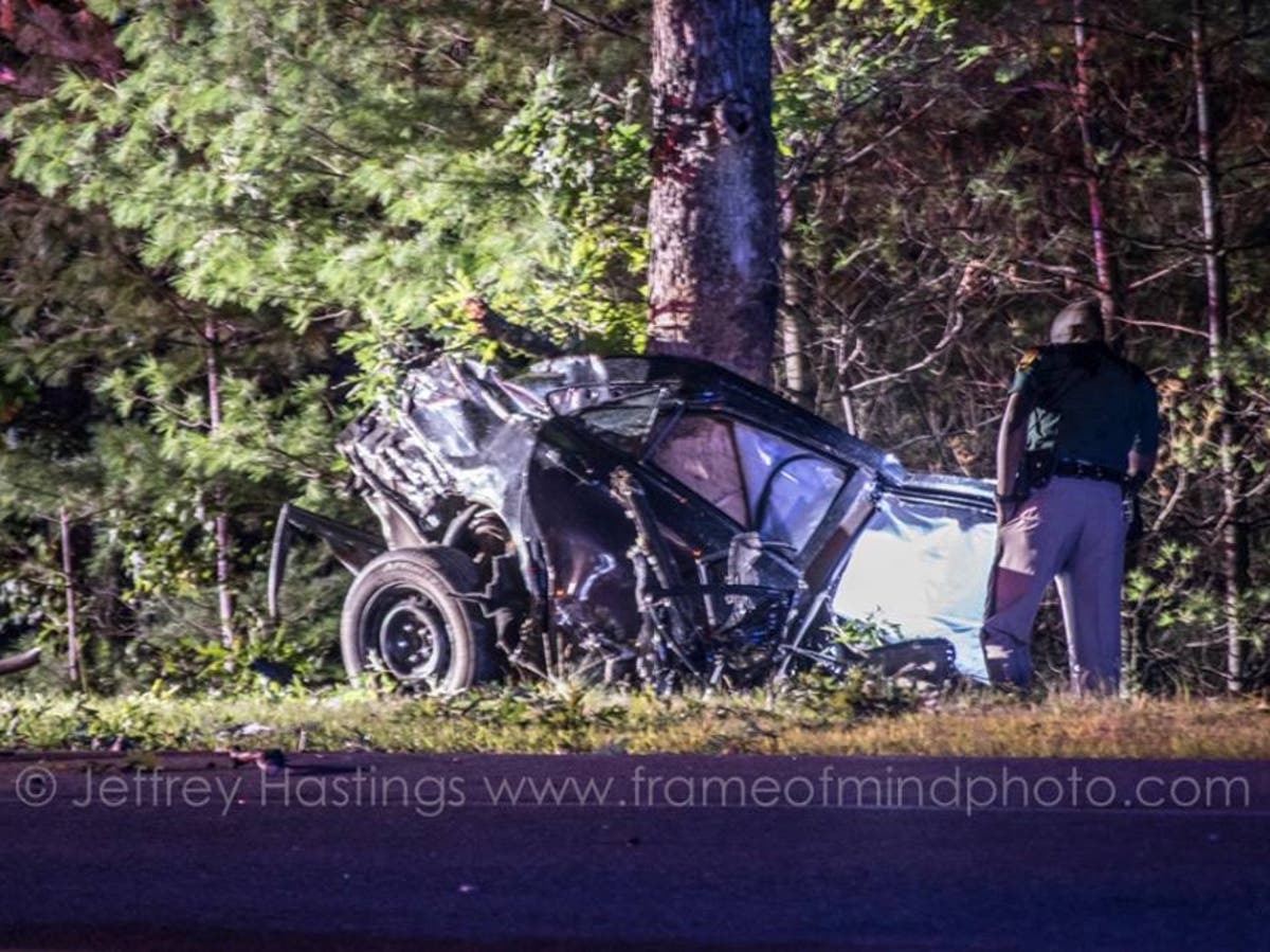 Crash Splits Car In Two On Daniel Webster Highway