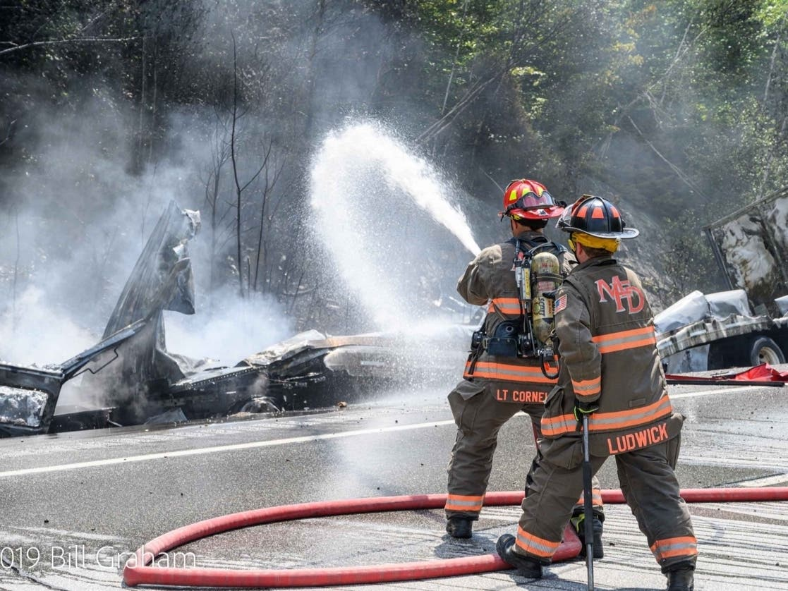 Trucker Sneezes, Crashes Into Another Truck, Causes Fire