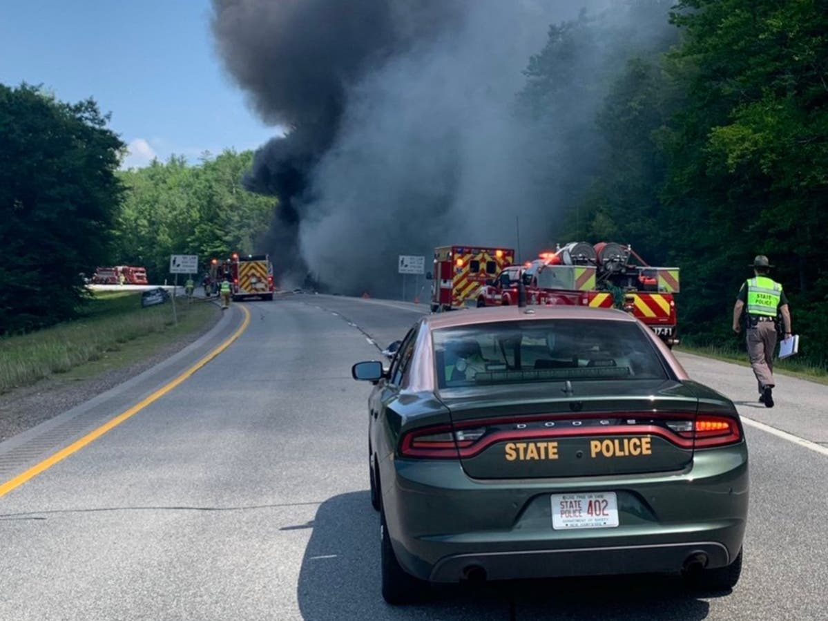 Tractor-Trailer Crash Closes Parts Of I-93   Concord, NH Patch