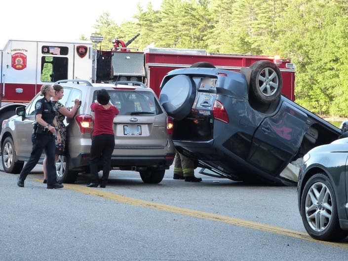 3-Vehicle Rollover Crash Reported In Concords West End