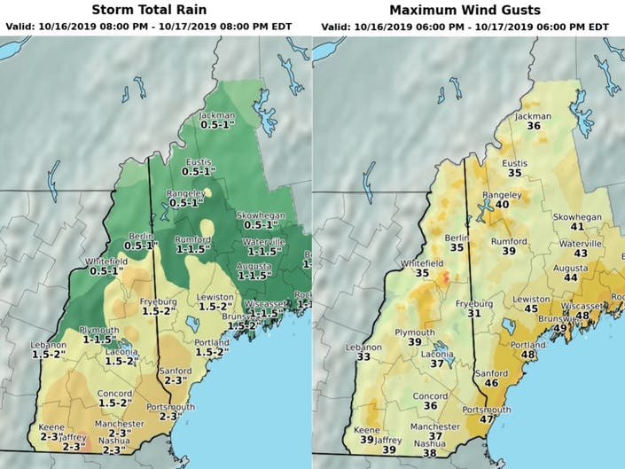 Heavy Rain, Gusty Winds Expected In NH Wednesday Night