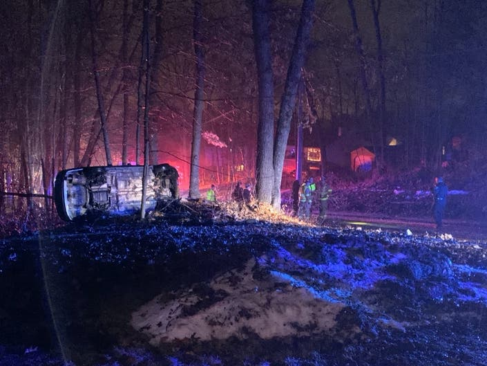 Single-Vehicle Rollover Crash Reported In Concords West End