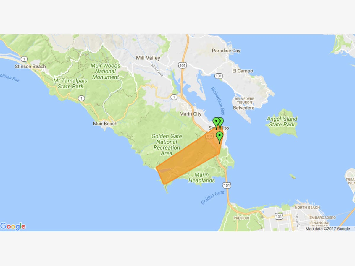 Over 1,000 Without Power Around Sausalito, Marin Headlands ... on marina district map, sonoma county map, riverbank map, bay area map, emeryville marina map, san tomas map, jiangmen city map, downieville map, port costa map, san francisco map, monterey harbor map, the presidio map, tiburon map, hacienda map, point richmond map, brooktrails map, serramonte map, golden gate national recreation area map, saddleback valley map,