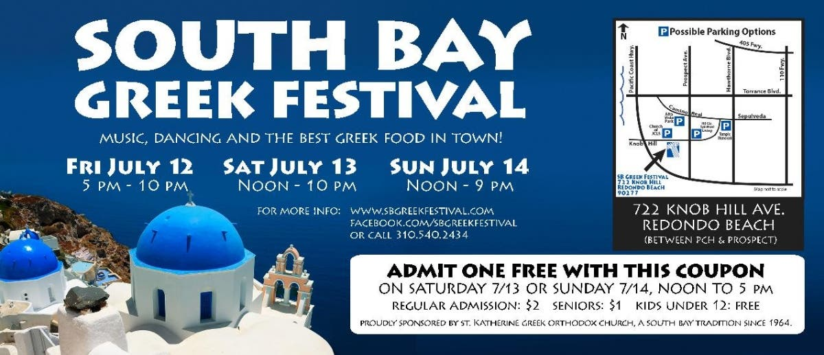 Jul 13 | South Bay Greek Festival | Redondo Beach, CA Patch