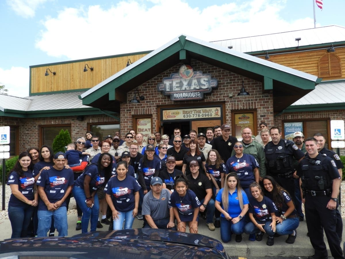 Naperville Texas Roadhouse event for Special Olympics July