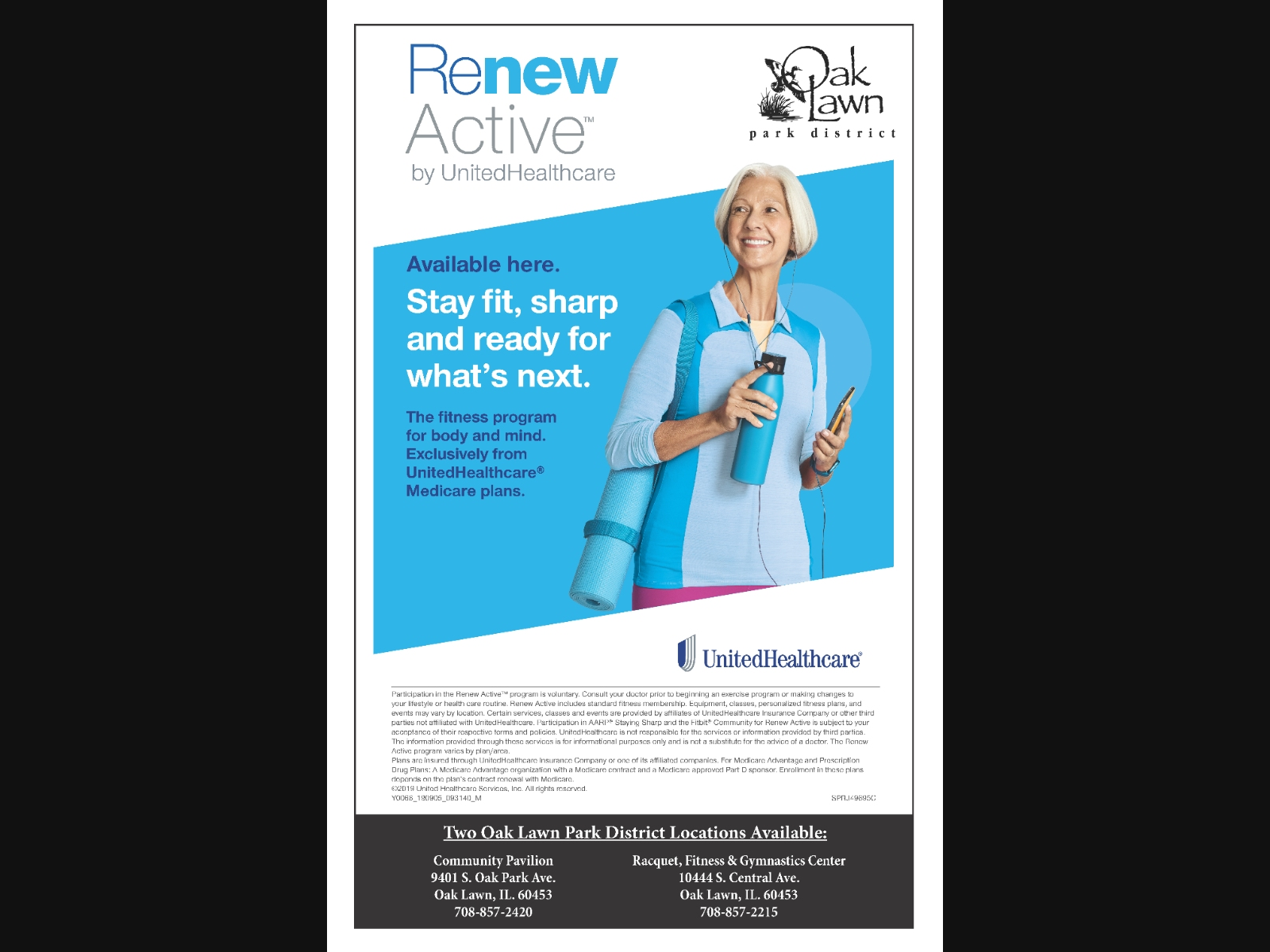 Renew Active™ Fitness Program Available at Oak Lawn Park District
