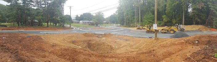Roundabout At Plumtree Tollgate Roads Nears Completion