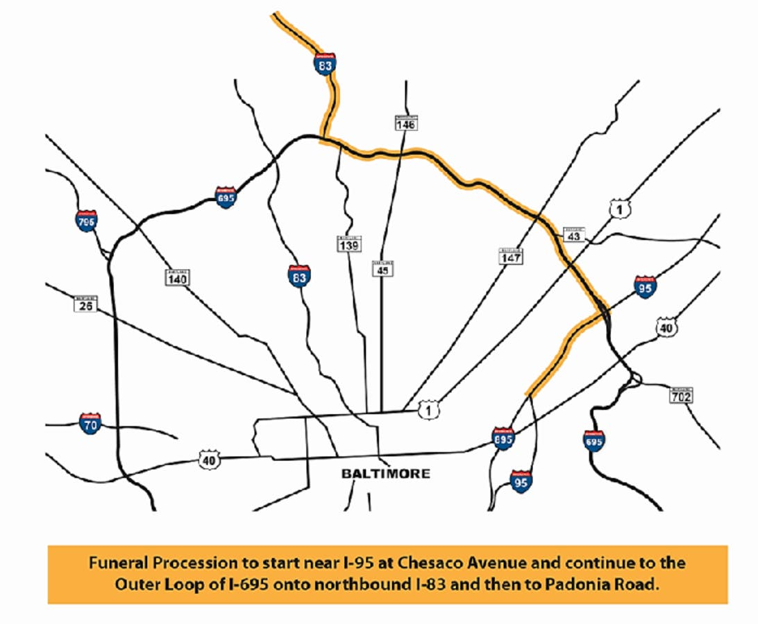 Police Funeral: I-95, I-83 Road Closures Planned In