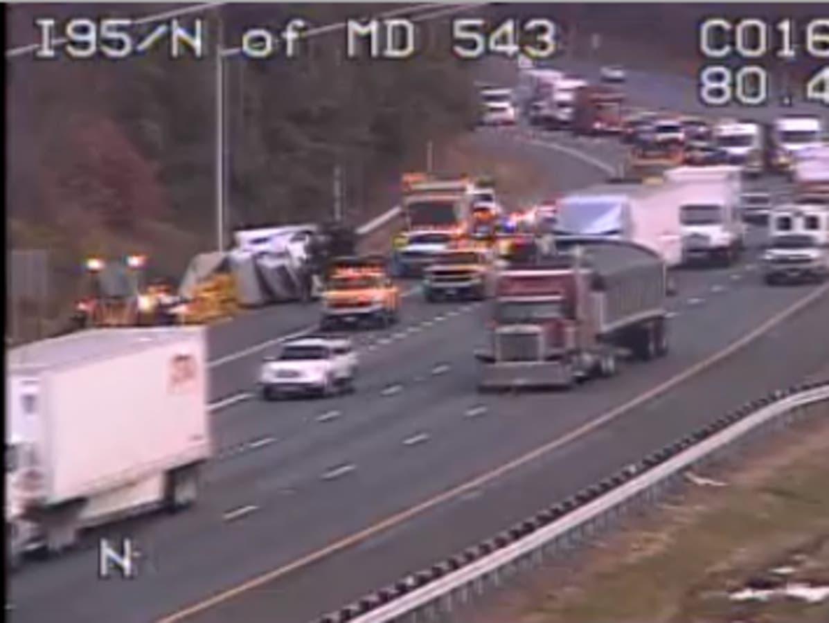 I-95 Tractor-Trailer Crash Snarls Traffic In Harford County | Bel