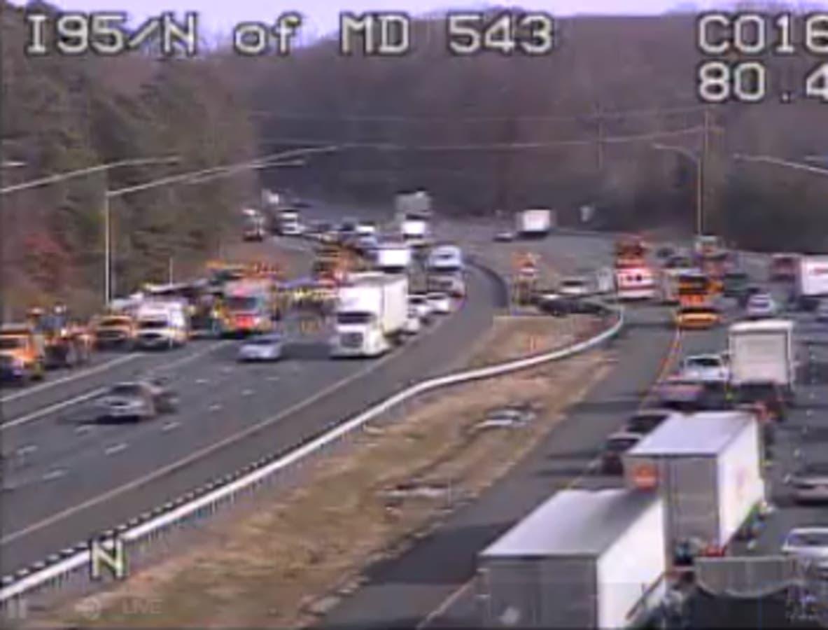 I-95 Tractor-Trailer Crash Snarls Traffic In Harford County   Bel