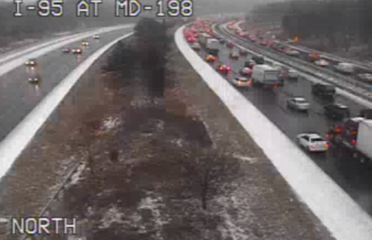 Crash On I-95 In Howard County Snarls Traffic | Columbia, MD