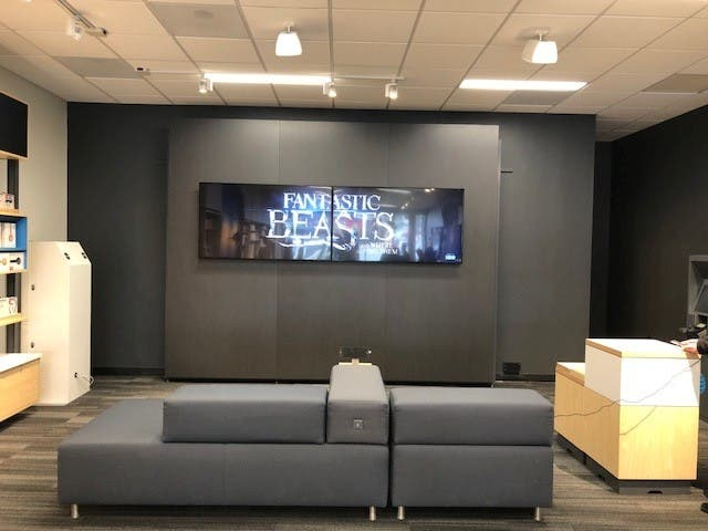 the newly renovated bel air store has been open for about a month officials say and the new design reflects what will be the standard for other at t