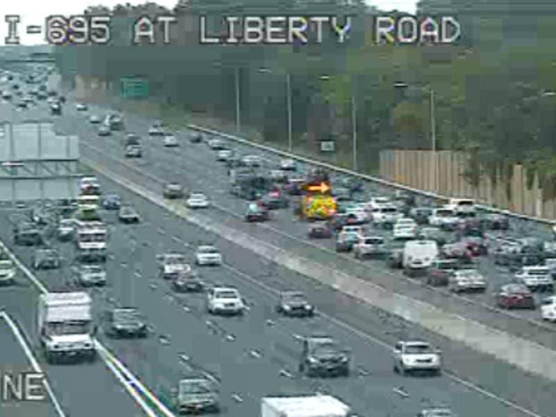 I-695 Crash Jams Traffic Near Liberty Road | Owings Mills