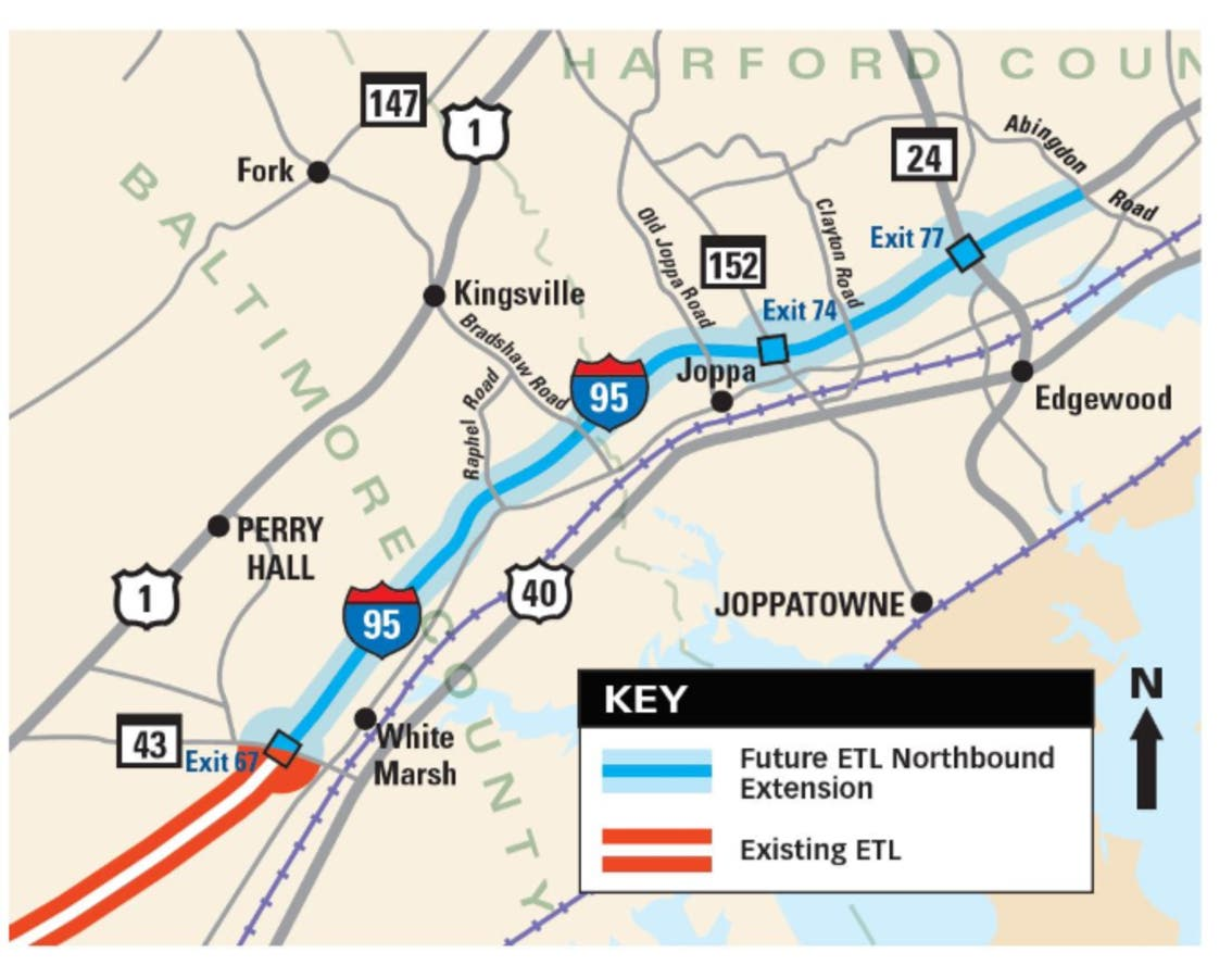 $1 1B Project To Extend Express Toll Lanes To Harford County | Bel