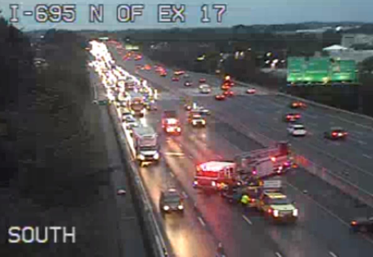 Crash Closed I-695 Near Security Boulevard | Owings Mills