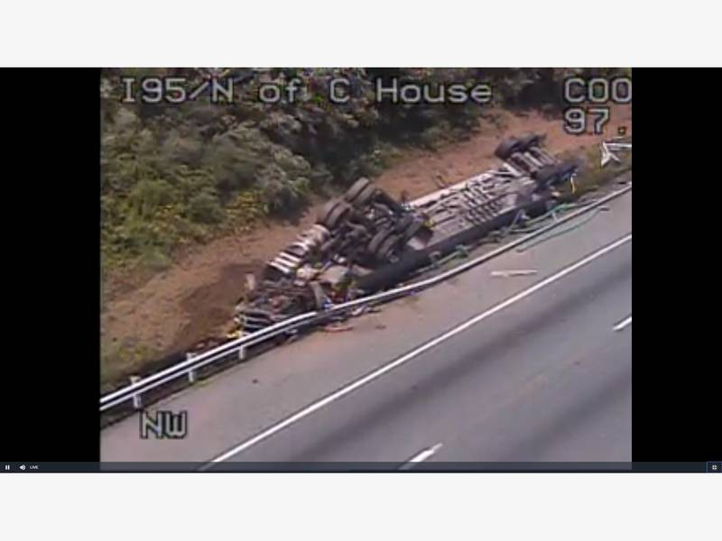 Fatal Tractor-Trailer Crash Closes I-95 South In Cecil