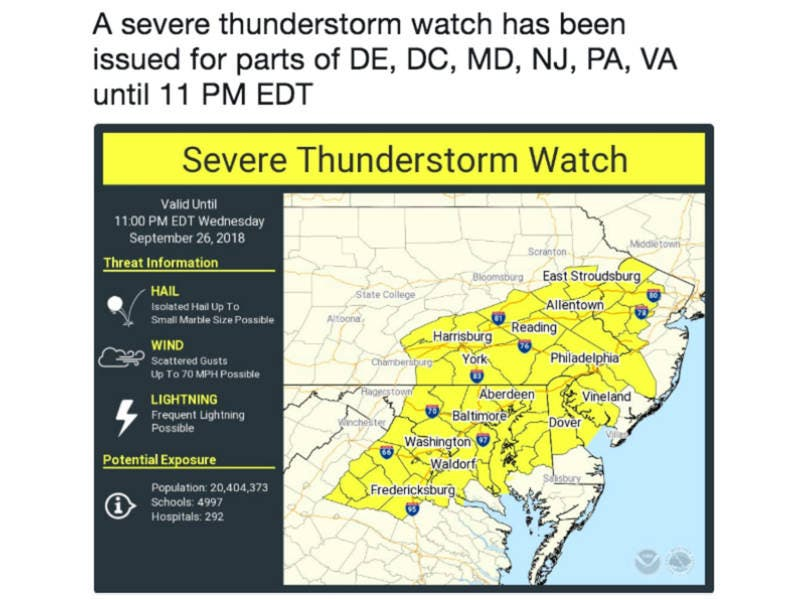 Severe Thunderstorm Watch Issued For 15 Counties Plus ... on map of hawaii hospitals, map of johns hopkins hospital, map of chicago area hospitals, map of grand rapids hospitals, map of northern new jersey hospitals, map of johns hopkins hopkins, map of charlotte hospitals, map of texas hospitals, map of phoenix area hospitals, map of tacoma hospitals, map of northeast ohio hospitals, map of lubbock hospitals, map of brisbane hospitals, map of seattle area hospitals, map of west michigan hospitals, map of walter reed national medical center, map of florida hospitals, map denver hospitals, map of orange county hospitals, map of boston area hospitals,