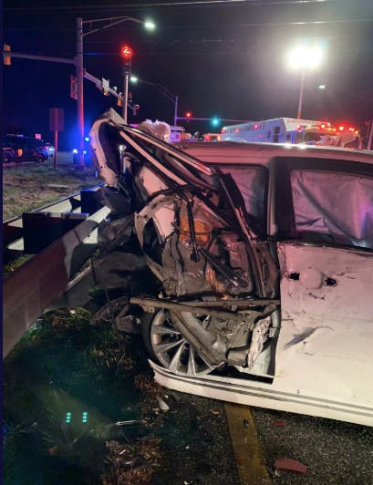 Multiple Vehicles Crash On Route 24 At Singer Road: Officials | Bel