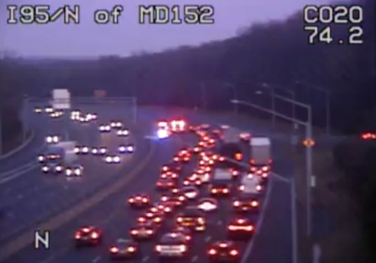 Crash On I-95 North Near Route 152 Causing Delays   Bel Air