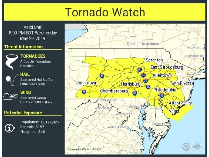 Tornado Watch Issued For Cecil County | Perryville, MD Patch on