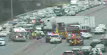 Tractor-Trailer Crashes Into Jersey Wall On I-695: Officials
