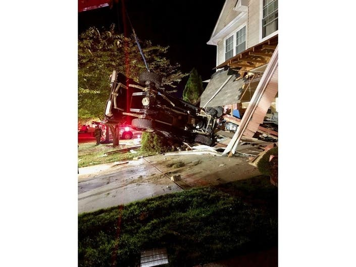 Truck Crashes Into House In Forest Hill: Bel Air VFC