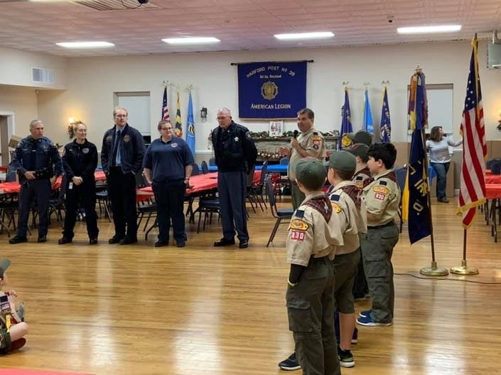 Bel Air Cub Scouts Deliver Holiday Gifts To First Responders