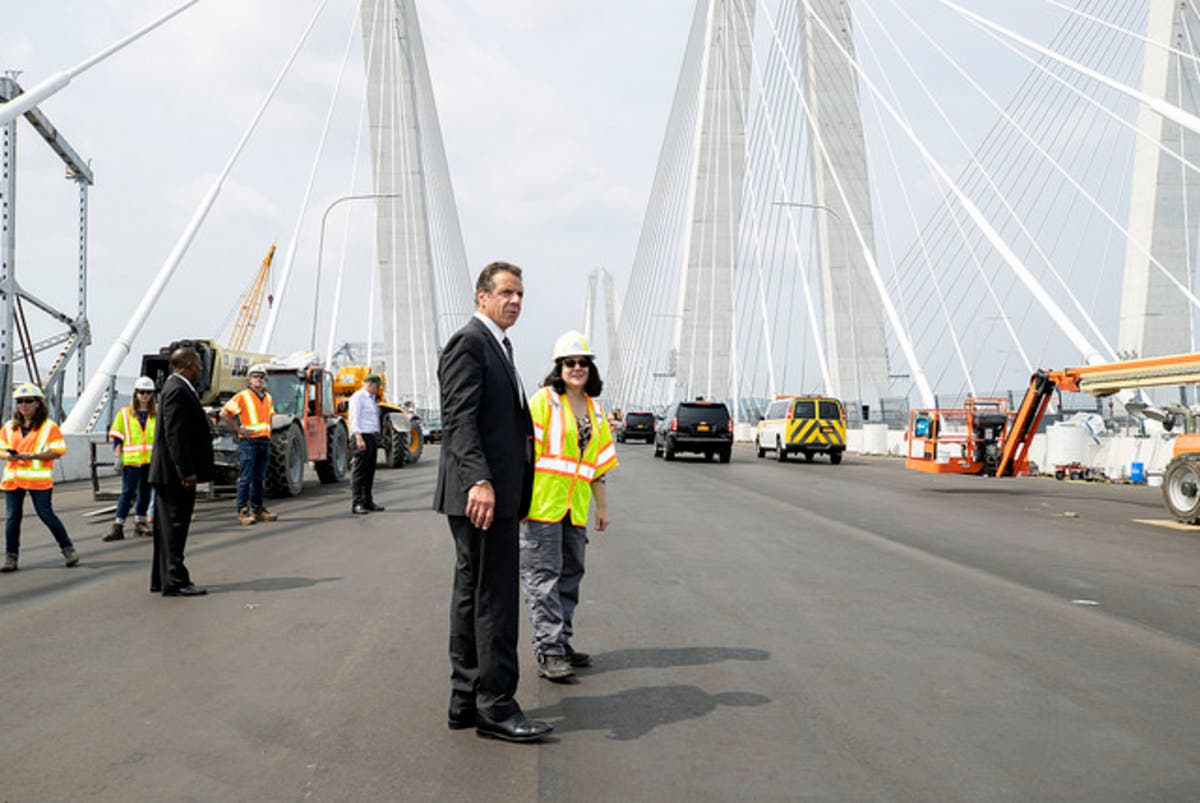 6843c4d87fc Cuomo Bridge Second Span To Open By September: Governor | Tarrytown ...