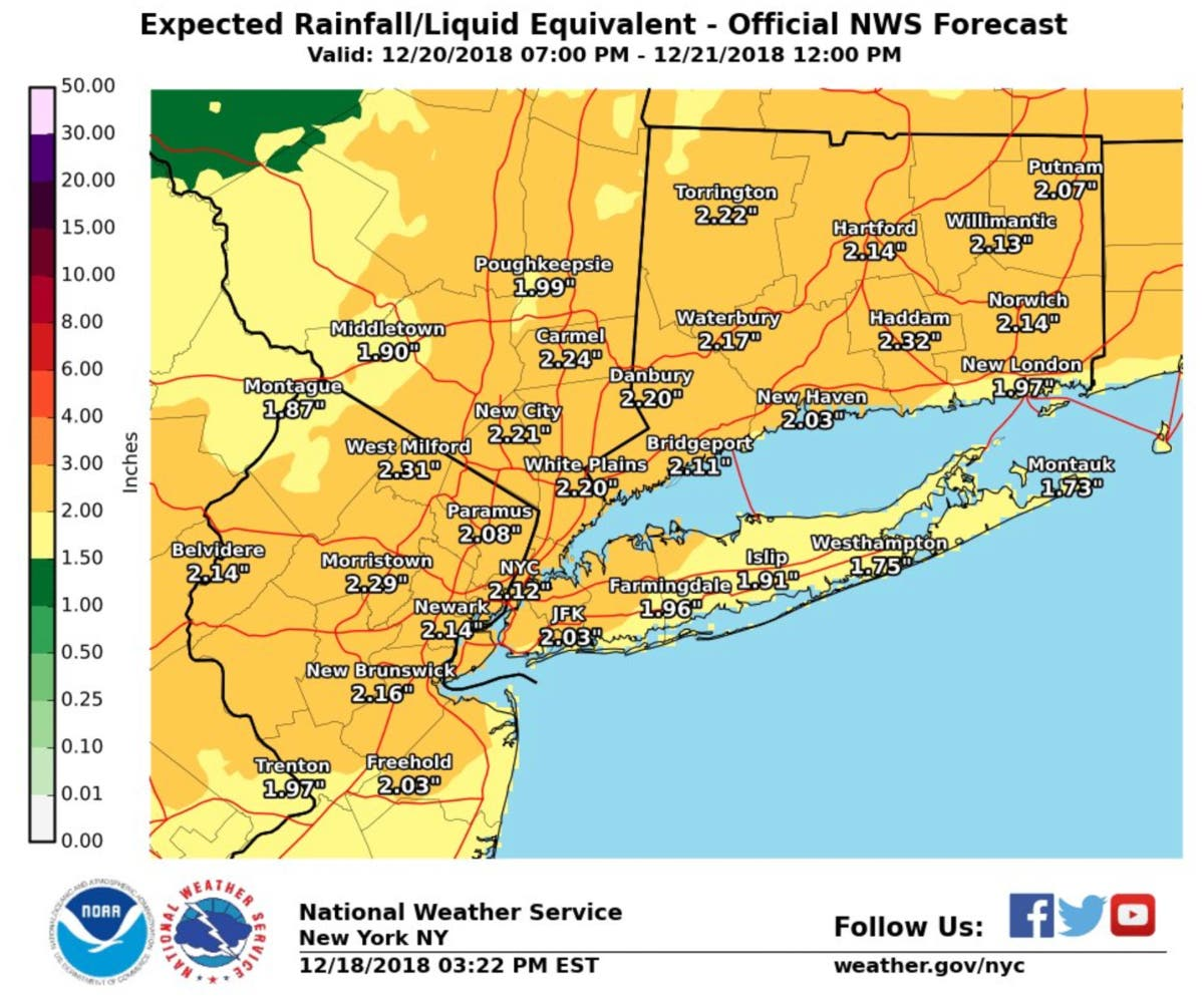 Hazardous Weather Outlook Issued For Long Island | Plainview