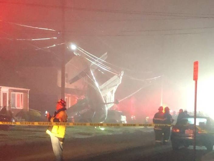 Small Plane Crashes Into Front Yard of Long Island Home