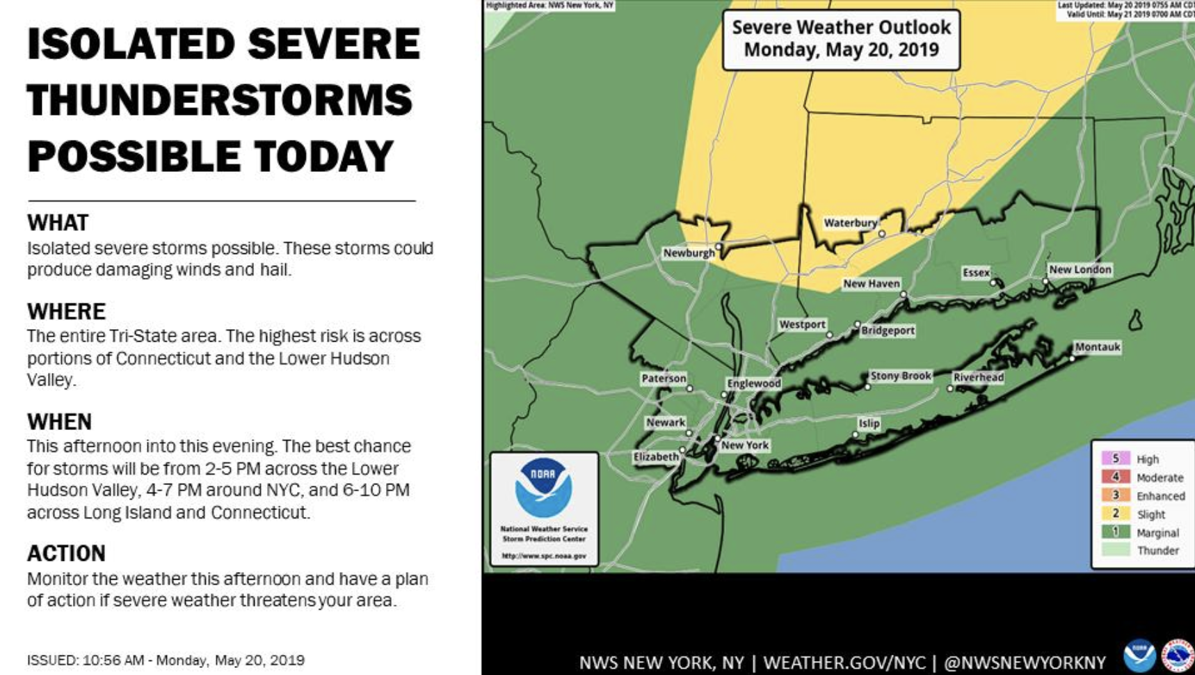 NYC Weather: Severe Storms Headed To NYC, Hail Possible | New York