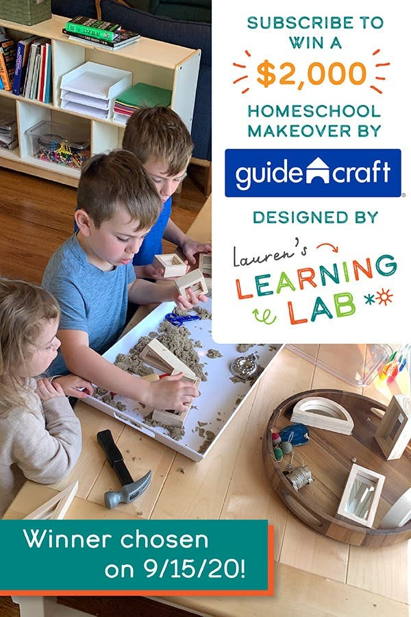Win a Homeschool Makeover Valued at $2,000 from Guidecraft