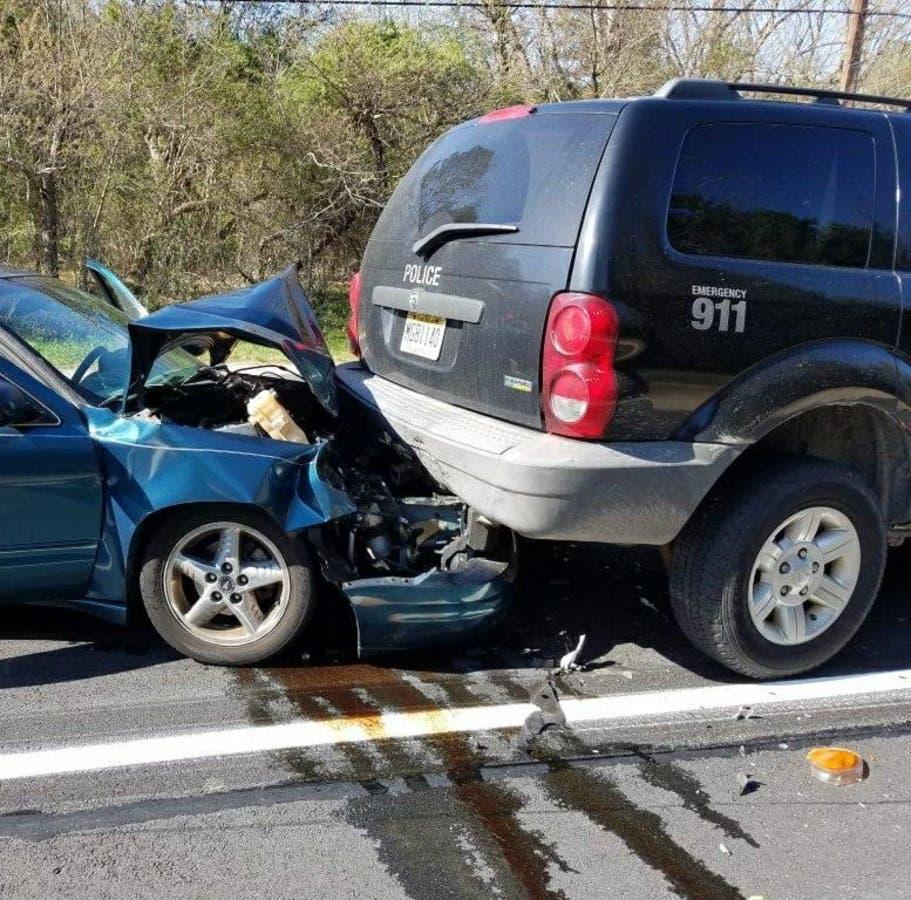Cop, Woman Hospitalized After 3-Car NJ Highway Crash In Hamilton