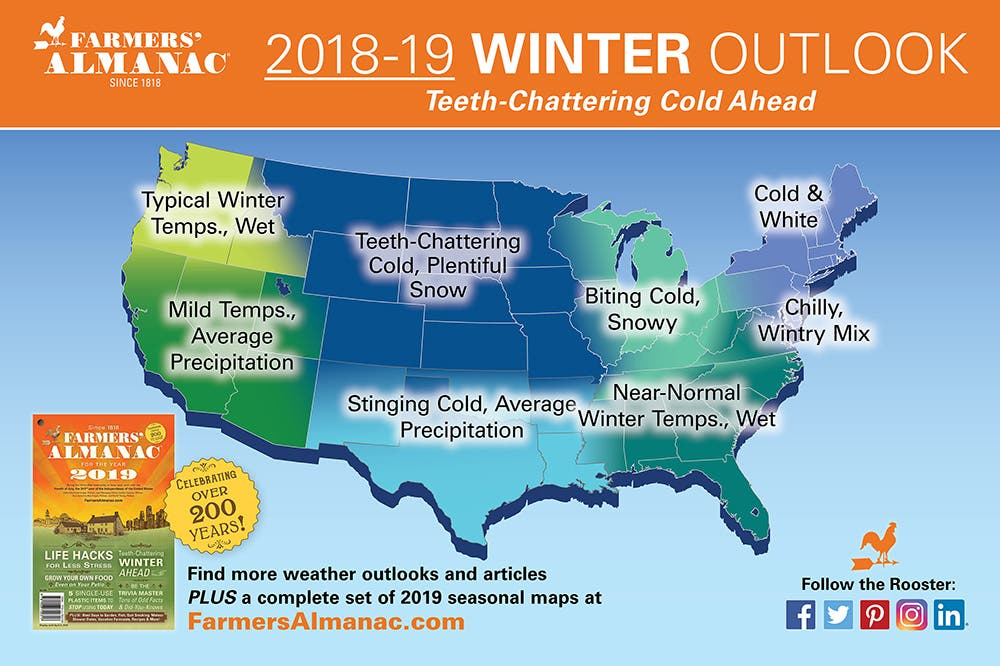 Farmers\' Almanac Releases NJ Winter 2019 Forecast: It\'s A Doozy ...