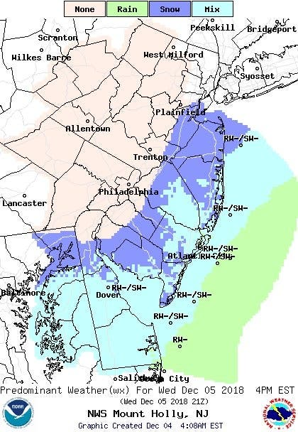 Snow Expected In New Jersey During Wednesday Commute | Point ...