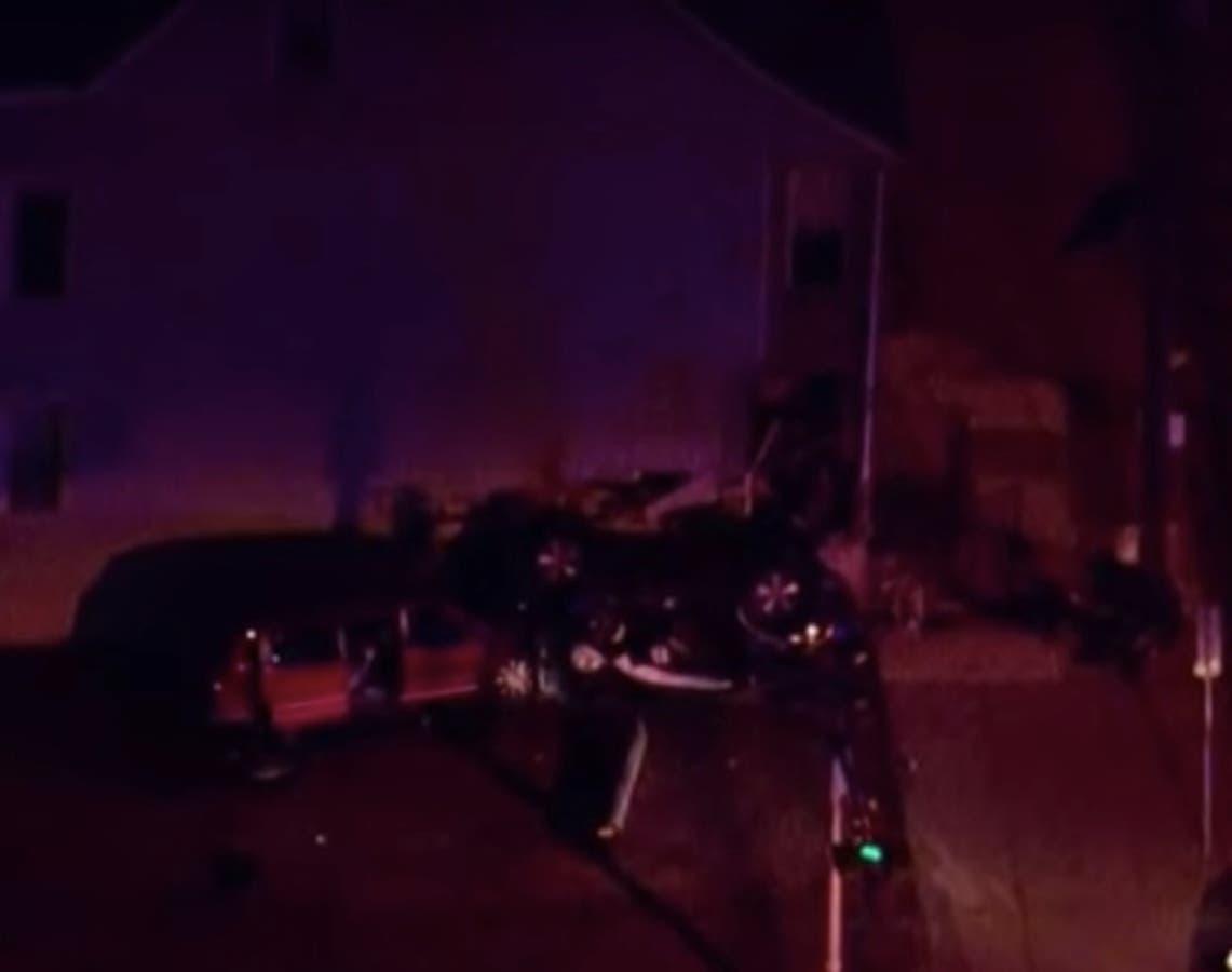 Double Fatal Crash As Car Hits House, 2 Poles In Newark: Cops