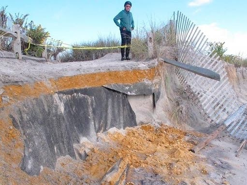 Sinkholes, Erosion At Jersey Shore As Another Storm Is Expected