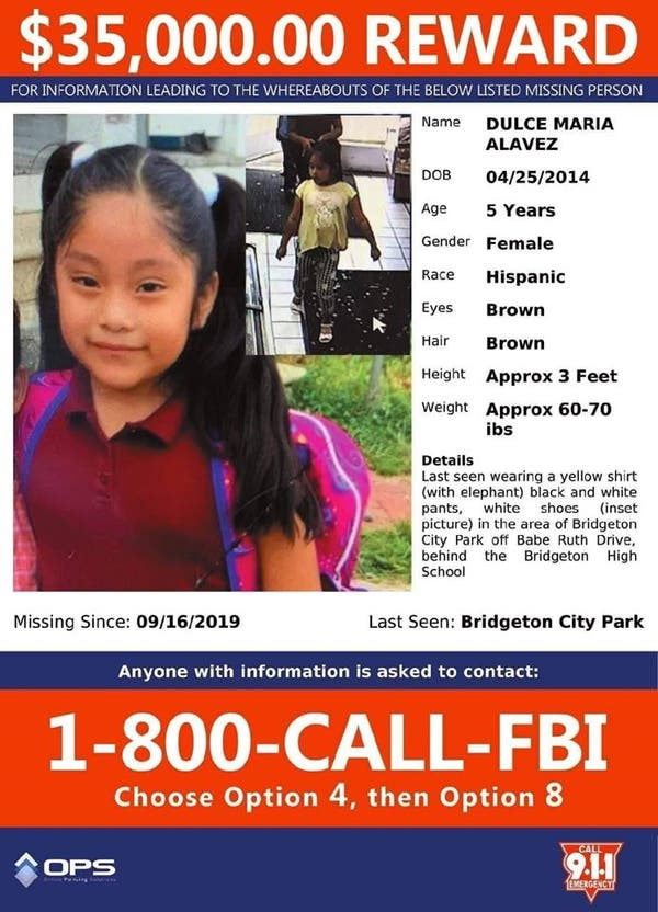 Fbi Leads Emerging In Amber Alert Probe For 5 Year Old Nj Girl West Deptford Nj Patch