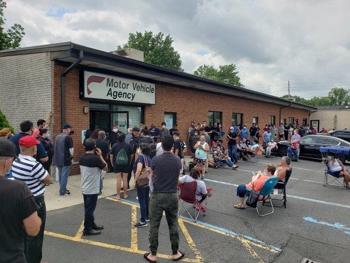 3 hour waits lines as nj s mvc reopens will it happen again south brunswick nj patch 3 hour waits lines as nj s mvc reopens