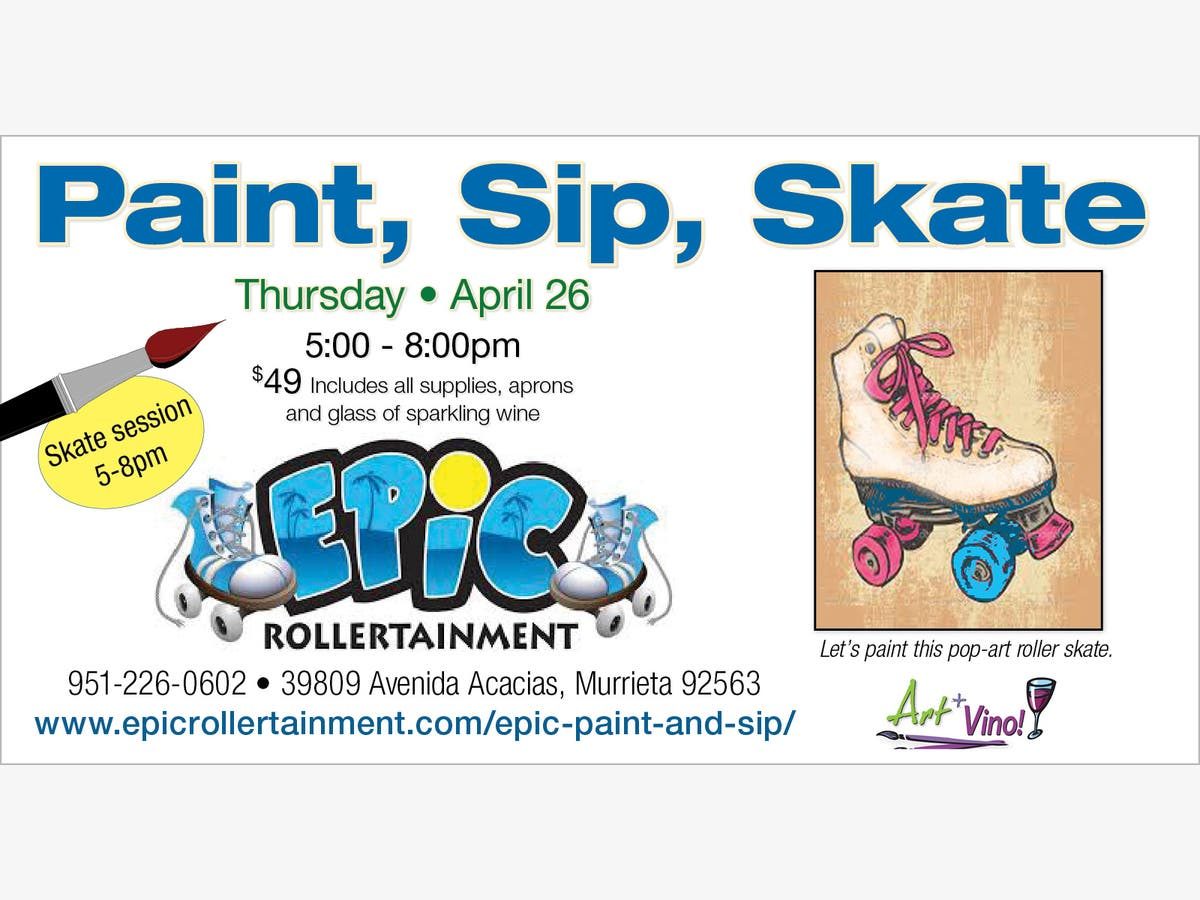 Learn to Paint while your Family Skates!   Temecula, CA Patch