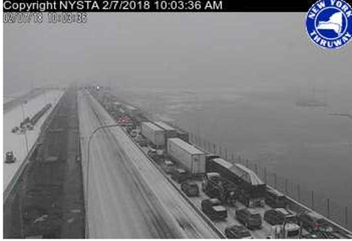 25-Car Crash Caused Thruway Storm Standstill | Nyack, NY Patch