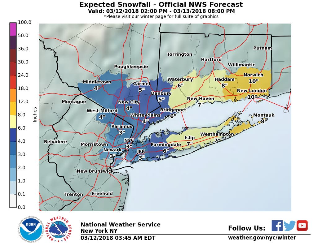 Advisories Issued Monday Across The Hudson Valley For New